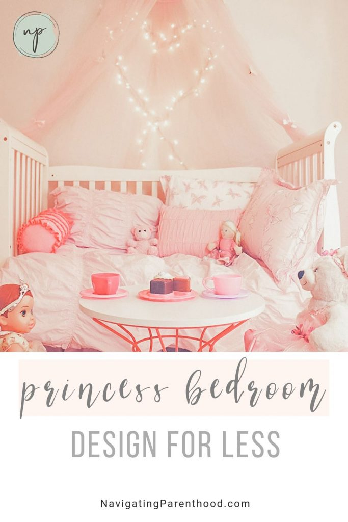 Adorable pink and bright princess toddler bedroom