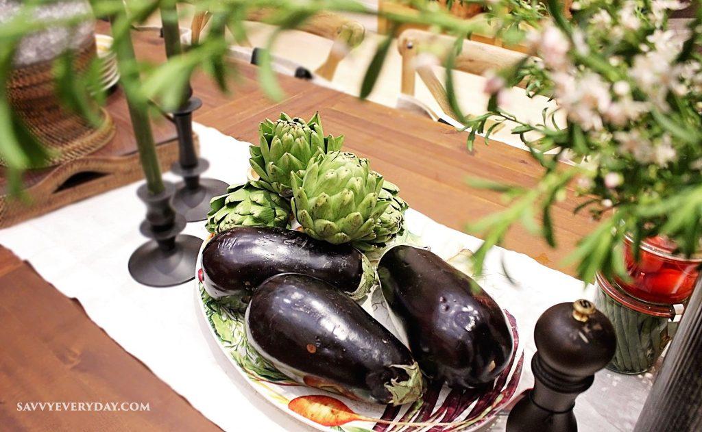 eggplant on table