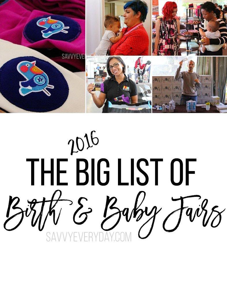 big list of 2016 baby fairs