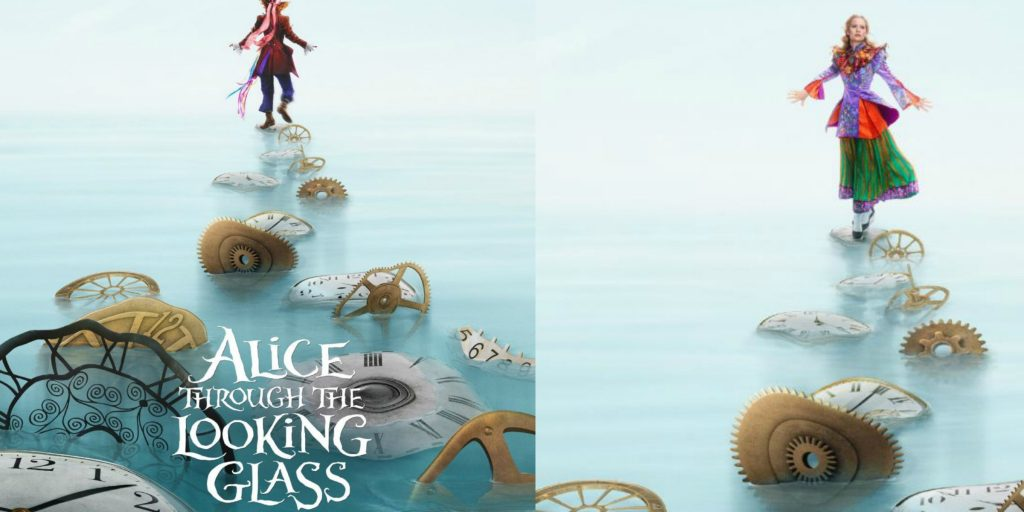 Alice Through the Looking Glass posters next to each other