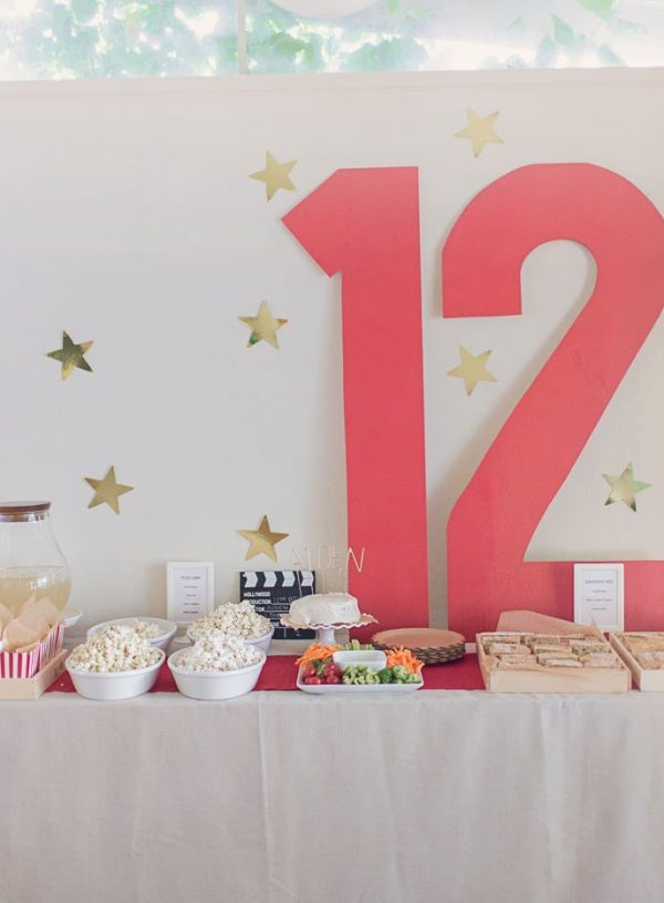 A Pre-Teen Movie-Themed Birthday Party