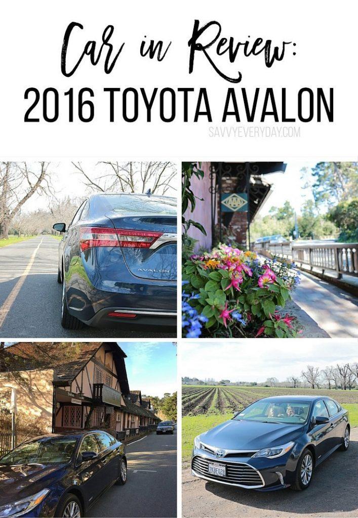 collage of 2016 Toyota Avalon pics