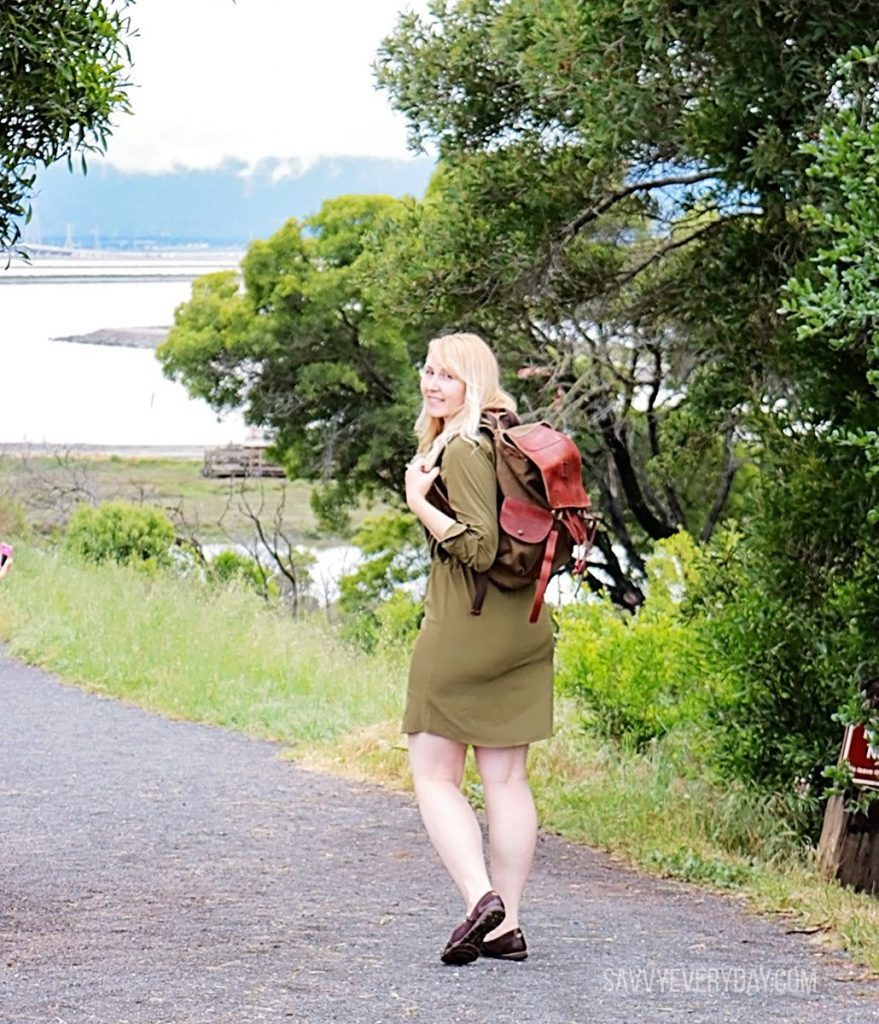 looking back with bag Orvis