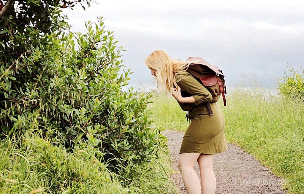 smelling leaves Orvis