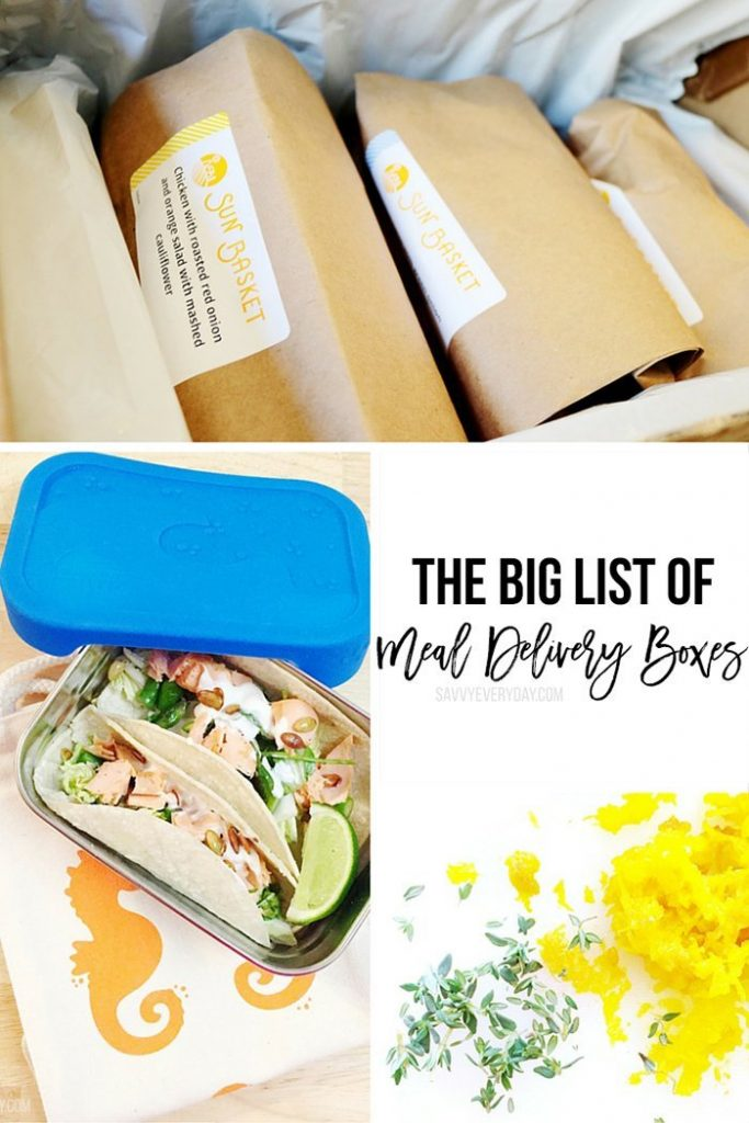 the big list of meal delivery boxes