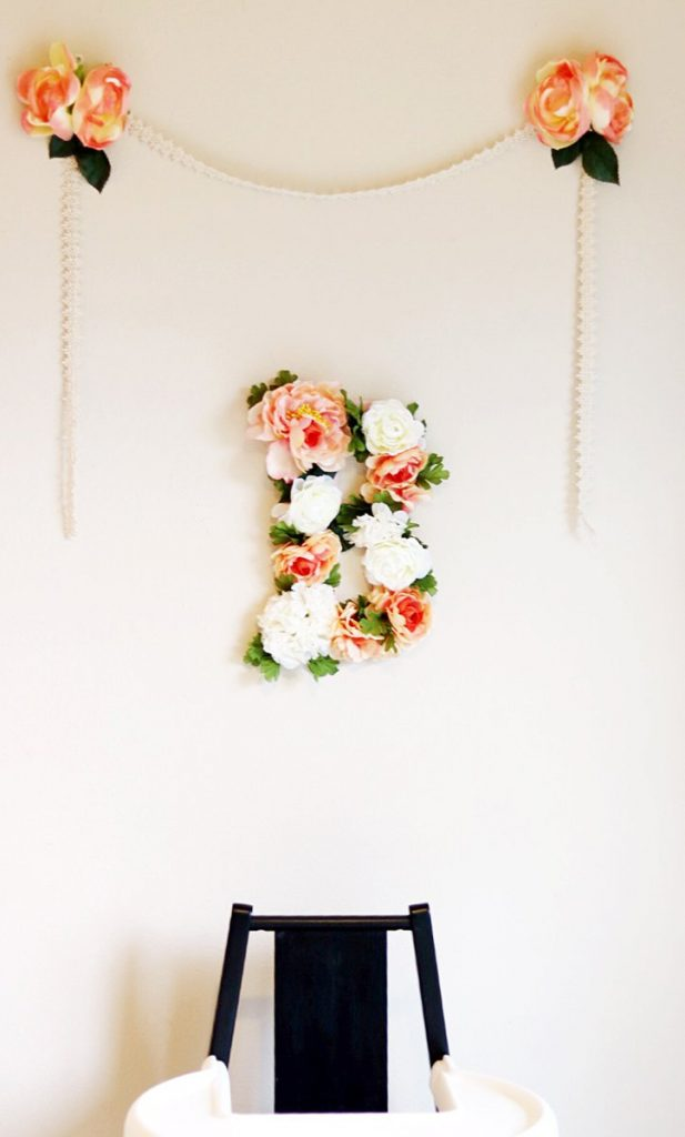 floral bday sign
