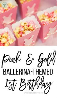 Pink & Gold Ballerina-Themed First Birthday
