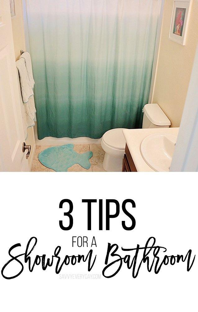 3 Tips For a Showroom Bathroom