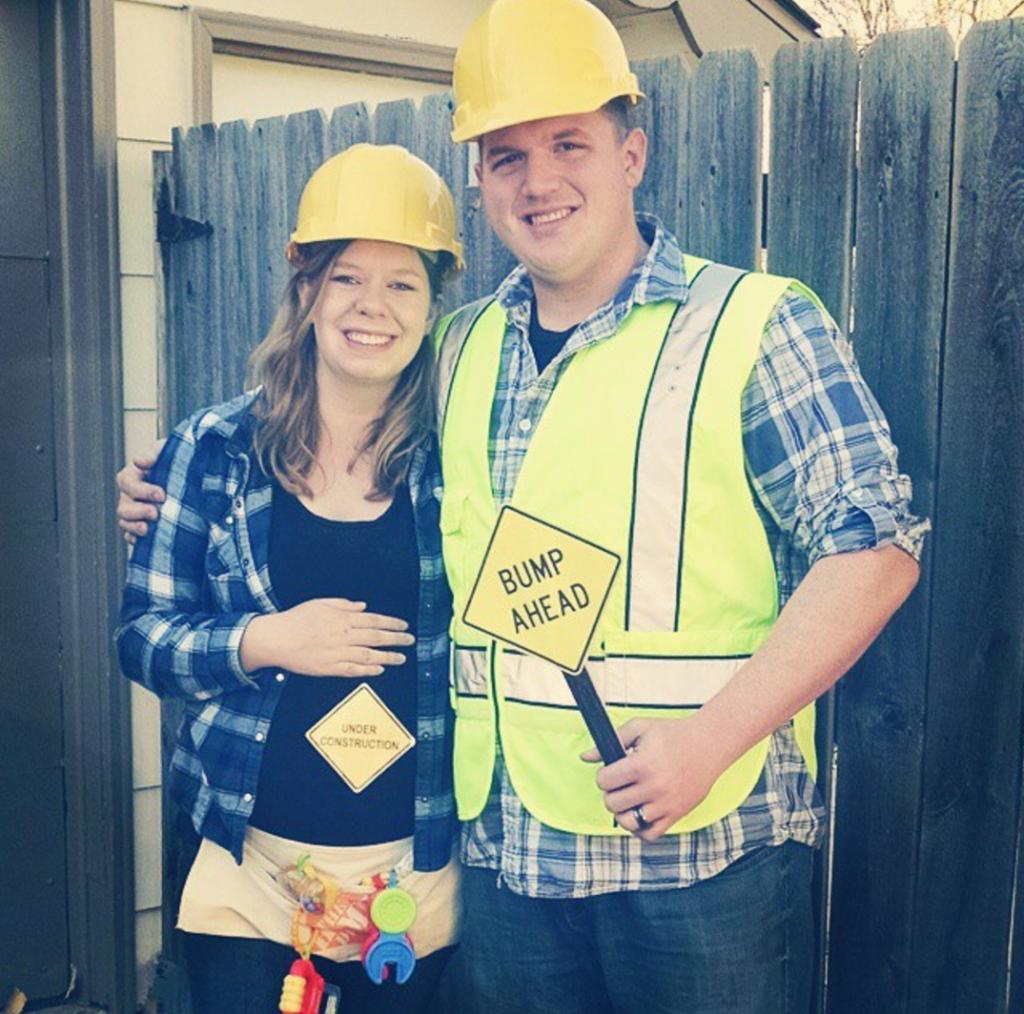 construction pregnancy costume