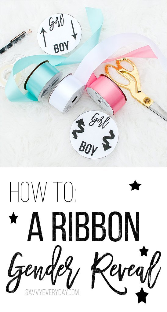 How To Make a Ribbon Gender Reveal