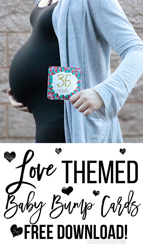 Free! Love-Themed Baby Bump Pic Cards