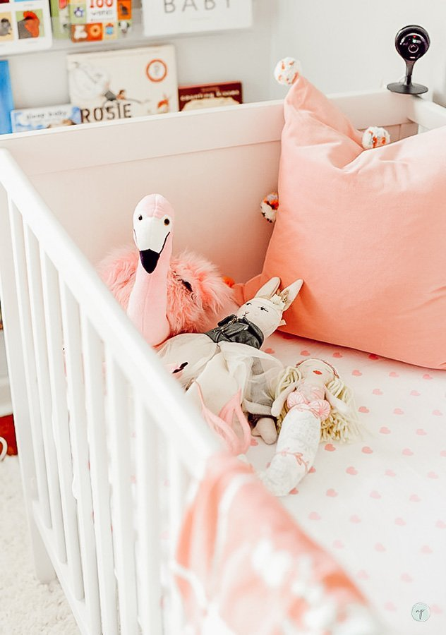 Wonderland flamingo and nursery crib