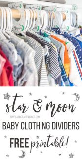 Free Download! Celestial Clothing Dividers For Baby\'s Nursery
