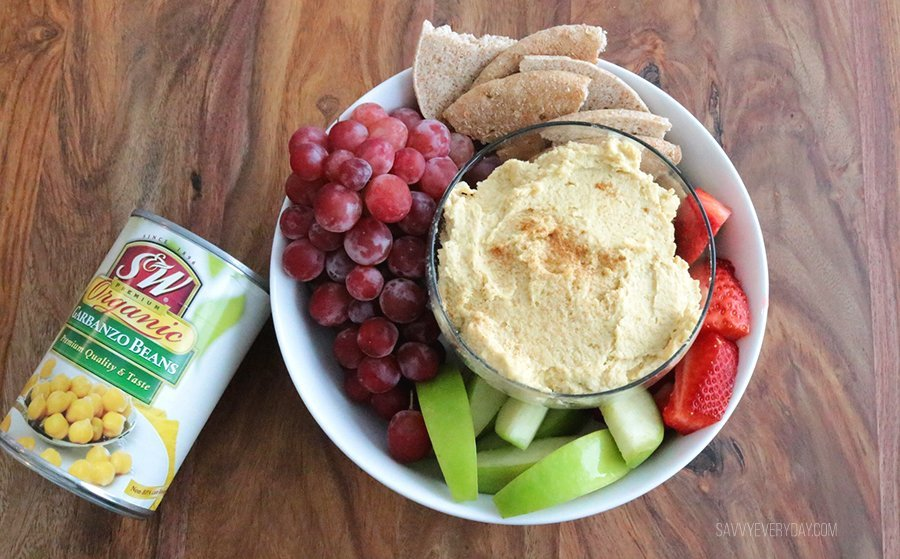 hummus with bean can