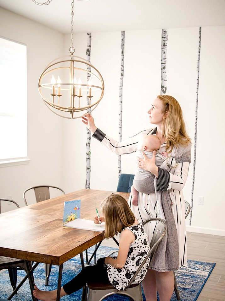 Looking at dining room chandelier
