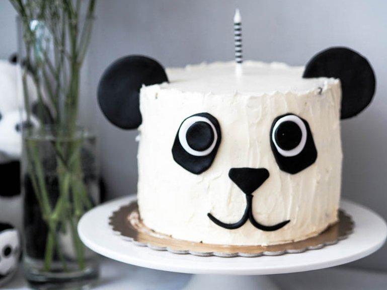 Panda head Bday cake