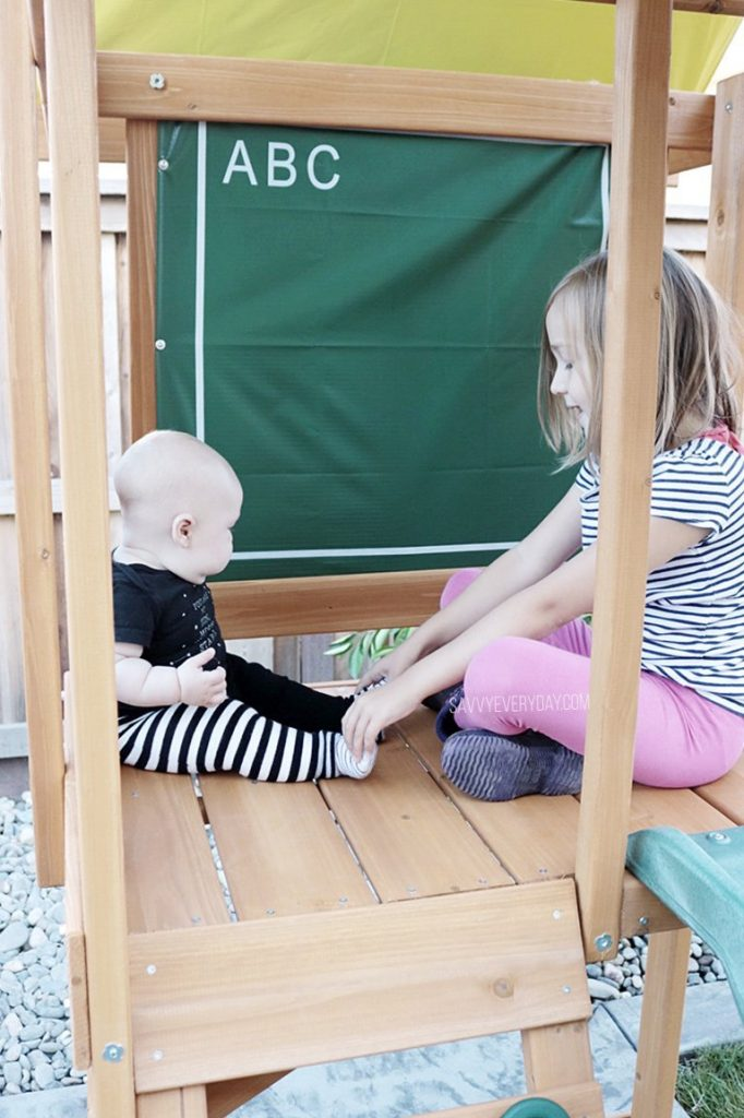 kids palying in play structure