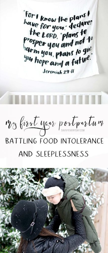 My First Year Postpartum: Battling Food Intolerance and Sleeplessness