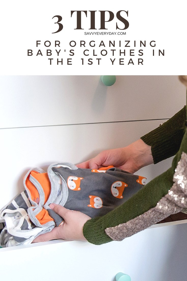 AD Between baby showers, growth spurts and hand-me-downs you definitely need to have a system in place for all the baby clothes. Here are some tips to help!