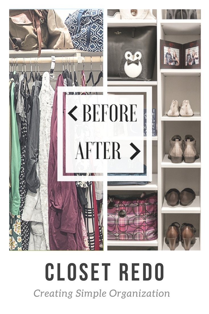 (AD) Using some DIY shelving, my husband and I transformed my closet from a messy poor use of space to an amazing organized place for everything!
