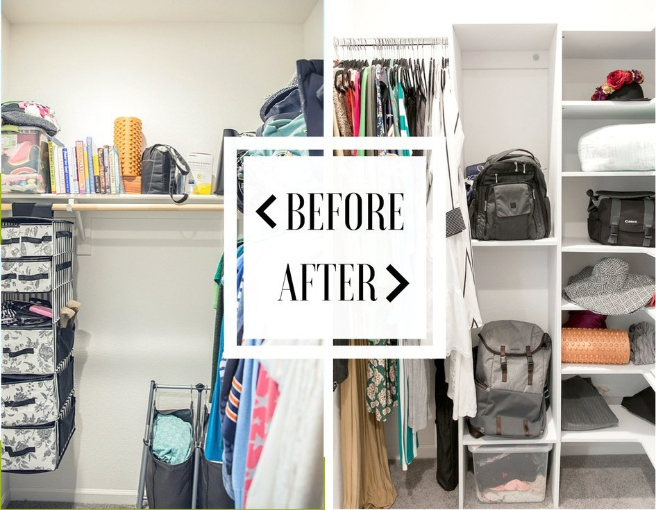 closet redo before and after