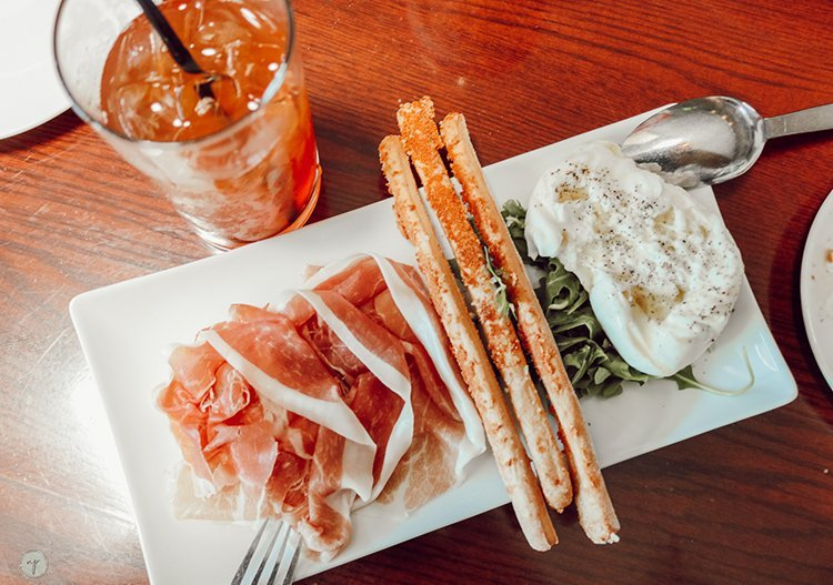 appetizer at Trabocco in Alameda