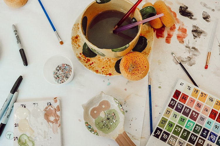 color me mine project flatlay