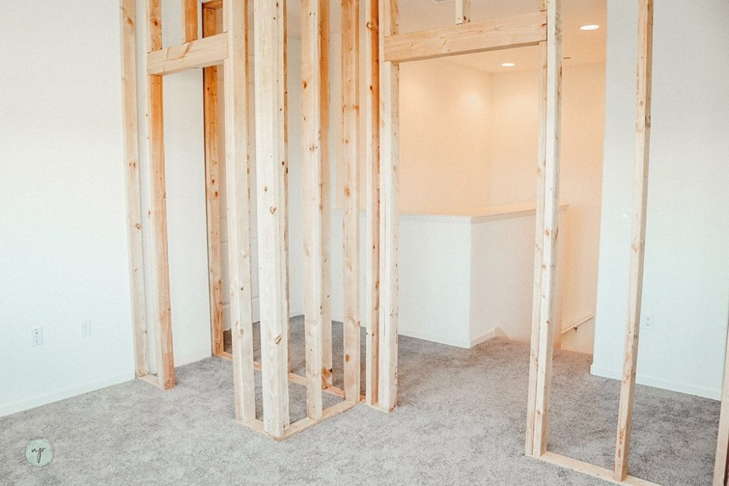 new wall framing