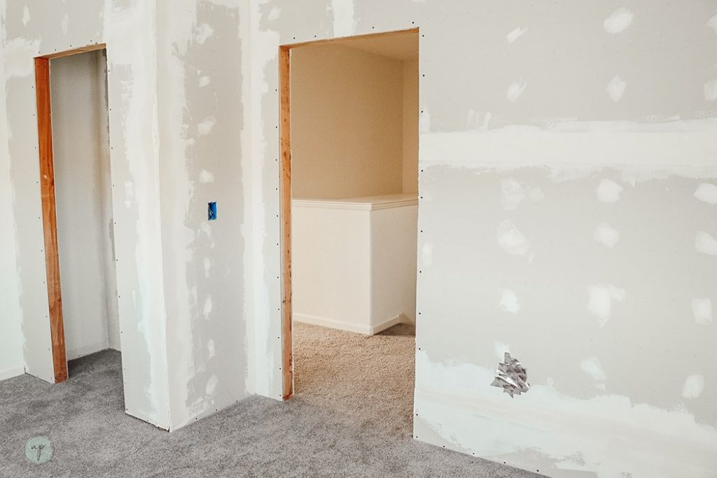 wall after patching