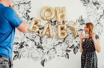 surprise pregnancy announcement