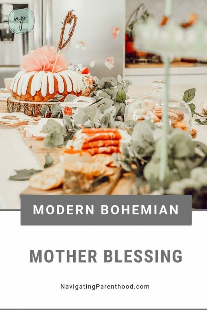 Modern Bohemian Mother Blessing