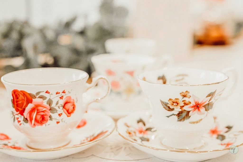 teacups on counter