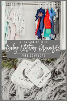 Mountain Themed Baby Clothing Organizers - Free Download
