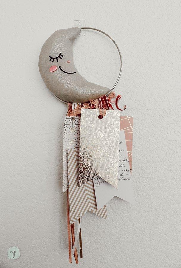 bohemian crescent moon well wishes hoop