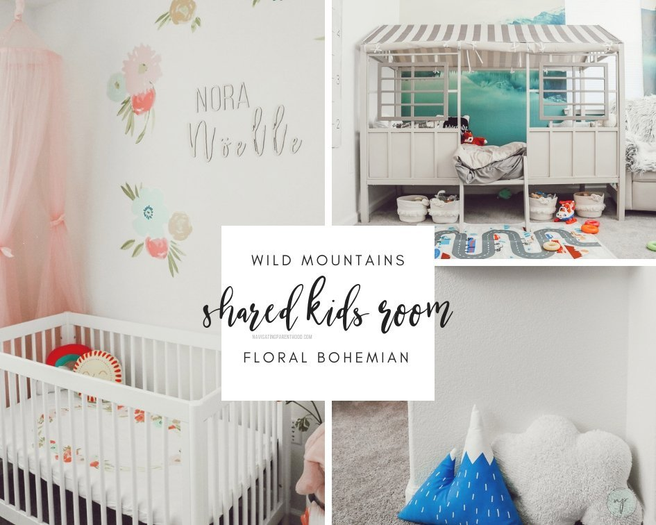 shared kids room collage