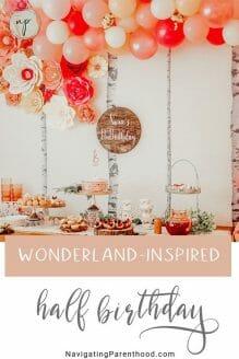 Wonderland-Inspired Half Birthday