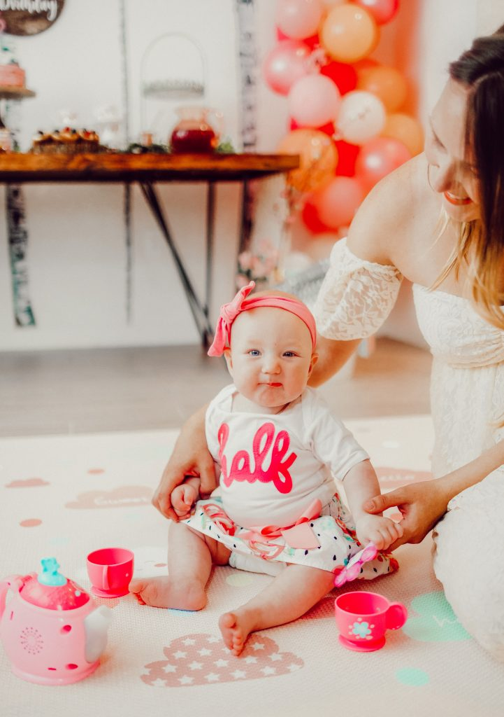 6-month-old baby at birthday aprty