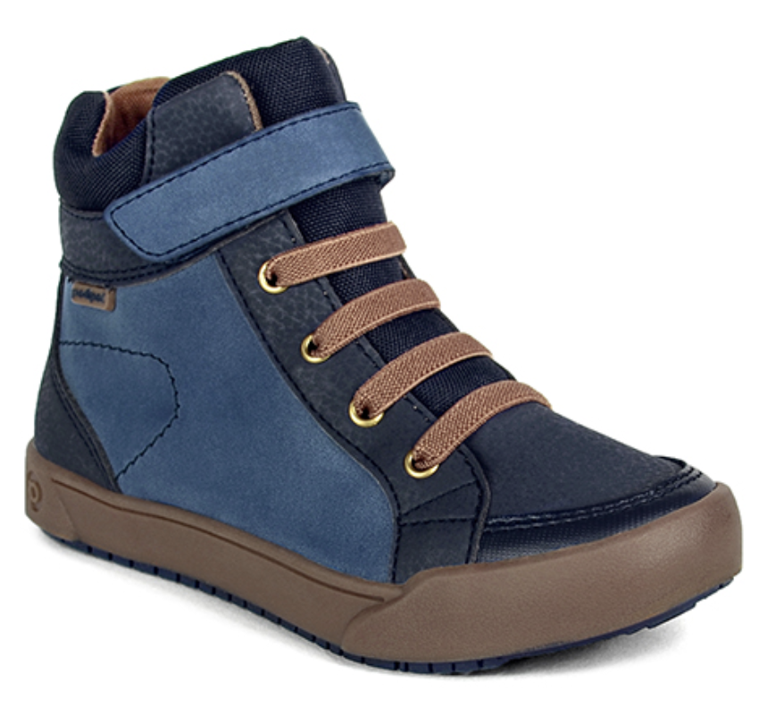 Navy, dark blue and brown kids boots (product image)