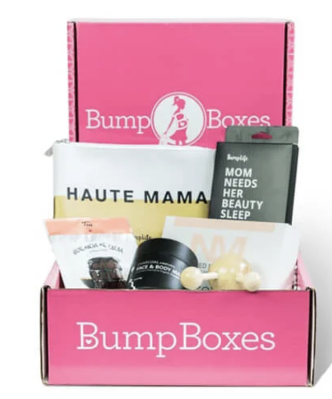 Bump Box full of expecting mama related products