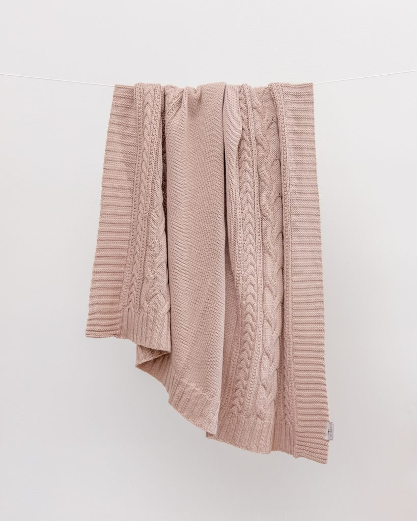 YaYa & Co - Blush Petal Baby Throw Blanket