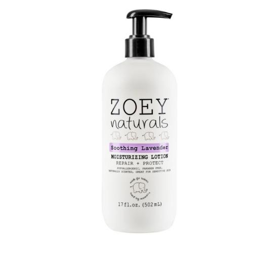 Zoey Naturals lavender lotion bottle